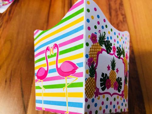 Imagem 1 de 10 de  Kit 770pç Completo  Forma Lembrancinhas Para Doces Flamingo