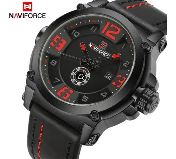 Relógio Masculino Naviforce Esportivo Militar Luxo Importado