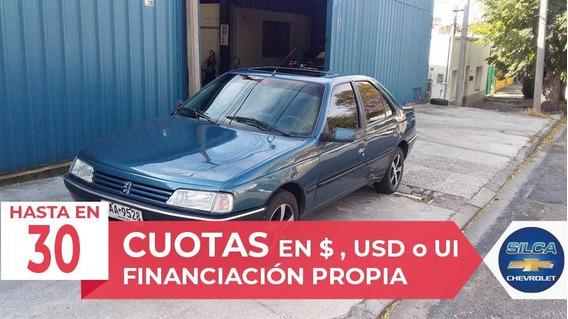 Peugeot 405 Gr 1991 Azul 4 Puertas
