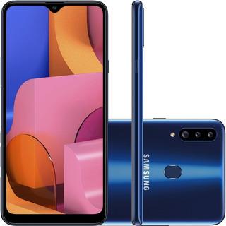 Smartphone Samsung Galaxy A20s 32gb Dualchip Tela 6.5 Azul