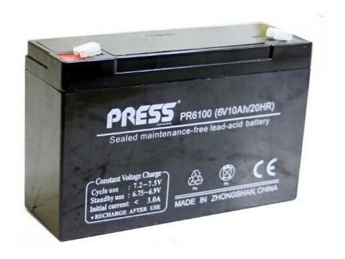 Imagen 1 de 3 de Bateria De Gel 6v 10ah Recargable Para Cuatriciclos Niños
