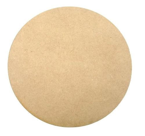 Imagen 1 de 1 de Base Circulo Mdf Fibrofacil 5,5mm De 15,5 Cm Diámetro X10 U