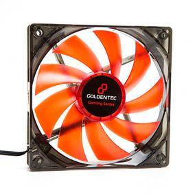 Cooler Fan Gamer 12cm Goldentec Gt Flow 1200rpm Led Vermelho