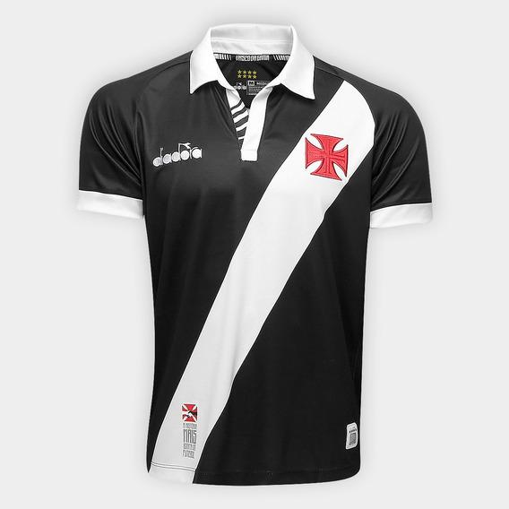 Camisa Vasco I 19/20 Preta Personalizável Frete Grátis