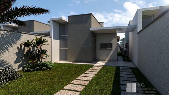 Casa Em Lt Parque Veraneio, Aquiraz/ce De 68m² 2 Quartos À Venda Por R$ 145.000,00 - Ca390427