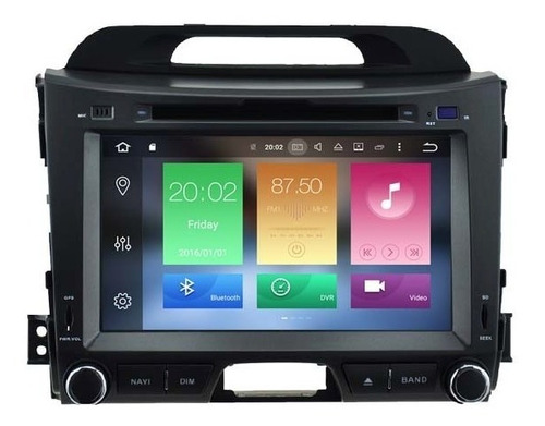 Radio Gps Bluetooth Kia Sportage 2010-15 Android 9.0 64gb 4g