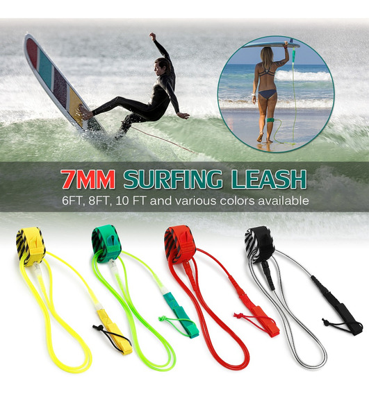 Trela ¿¿de Surf Surf Leash Leash Aço Suave Swivel Surf Perna