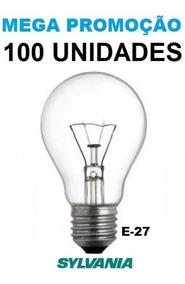Lâmpada Incandescente 25w 110v Sylvania E-27 Clara 100 Peças
