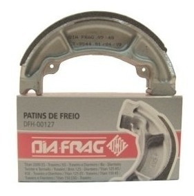 Patim De Freio Lona Diafrag Cb300 Traseira