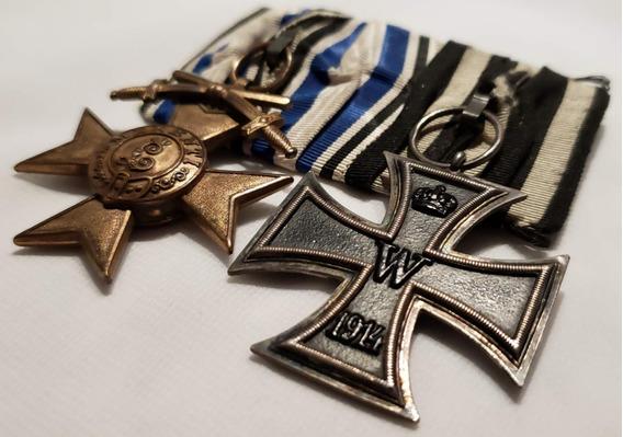 Medalhas Cruz De Ferro + Cruz De Mérito Militar Alemanha Ww1