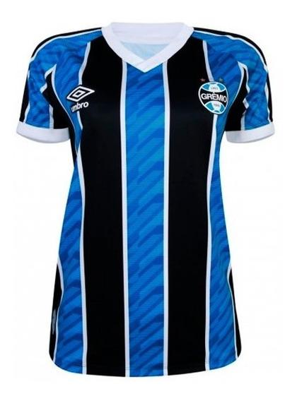 Camisa Grêmio Oficial 2020/21 Torcedor Umbro Feminina
