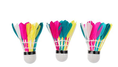 3 Peças De Penas Coloridas Bolas De Badminton Jogo De