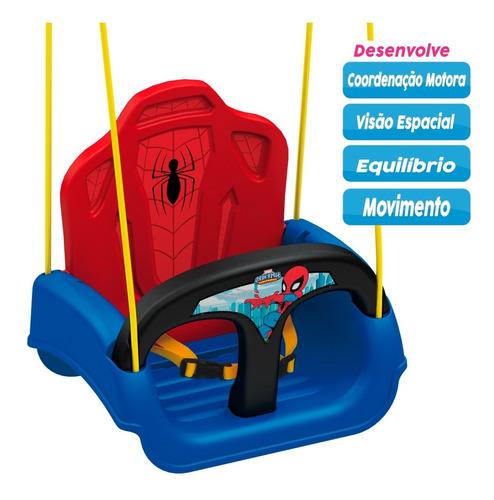 Imagem 1 de 10 de Balanço Infantil Spider Man Com Encosto E Cinto - Xalingo