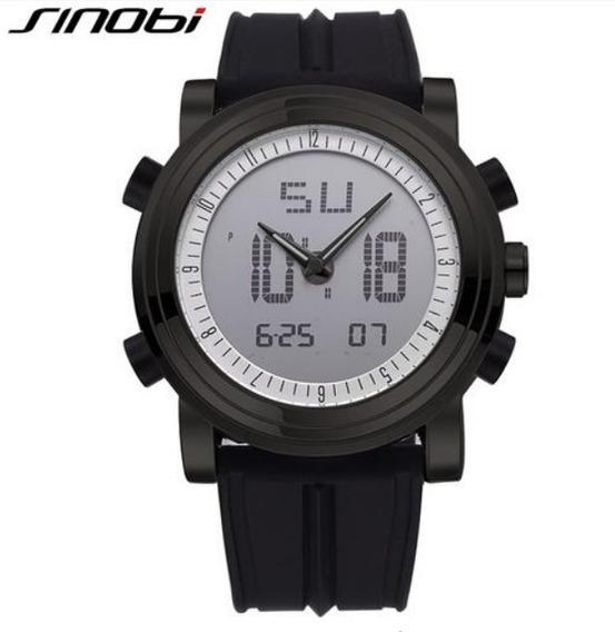 Relógio Masculino Sinobi Original Super Promoção Social Novo