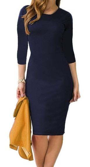 Vestido Midi Longuete Moda Evangélica Justo Blogueira Social
