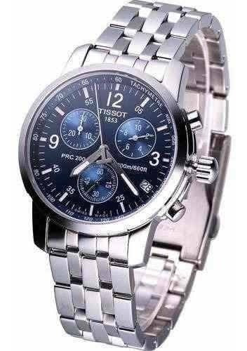 Relógio Tissot Prc 200 T17.1.586.42 Azul Aço 40mm Original