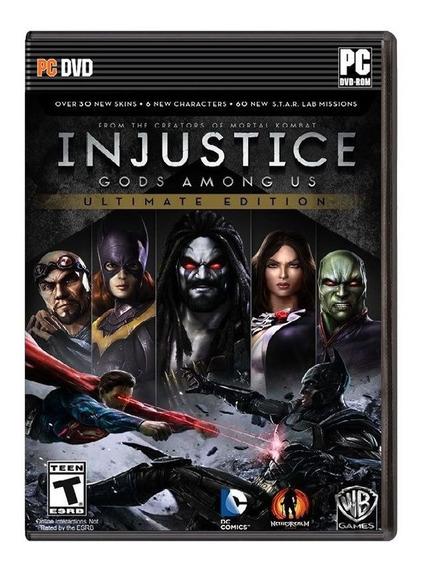 Injustice Ultimate Edition Pc - Mídia Física - Frete Grátis