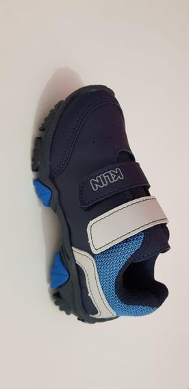 Tenis Masculino Azul Kin Original Caminhada Escola 2020