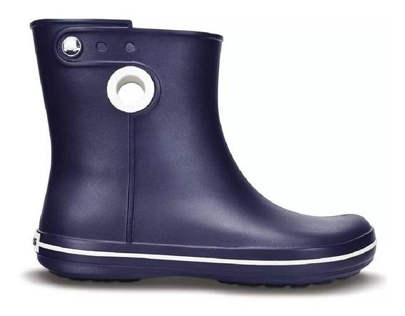 Bota De Lluvia Crocs Jaunt Shorty Boot C15769 C410 Navy Dama