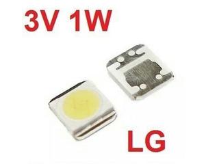 100 Led Iluminación Trasero Lcd LG 3v 1w 3528 Blanco Frio