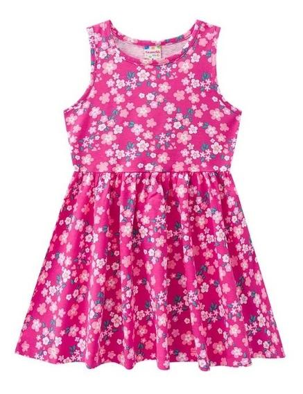 Vestido Rosa Pink Florido Brandili - Tam 6