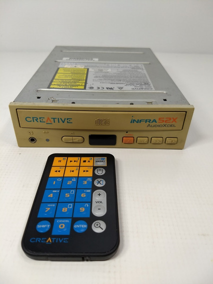 Antigo Drive Cd Creative Infra 52x Controle Retro Pc Raro