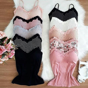 387680bae5 Kit C  7 Blusas Floridas Com Bojo Blusinha Feminino Moda Top