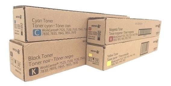 Kit Completo Toner Xerox 7525/7530/7535/7545/7556 - Original