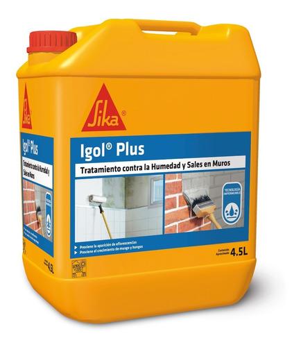 Imagen 1 de 4 de Igol Plus Impermeabilizante Y Antisales  En Muros 4,5 Lts