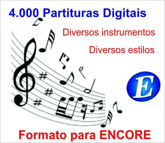 4.000 Partituras Musicais Para Diversos Instrumentos.