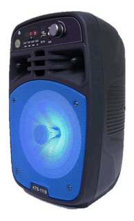 Parlante Portatil Karaoke Bluetooth Potenciado 6.5 Pulga Kts
