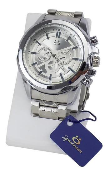 Relógio Masculino Prata Original Garantia Aço Barato Atacado
