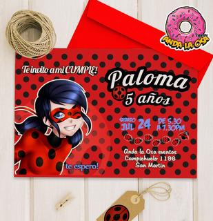 Ladybug Tarjeta De Invitacion En Mercado Libre Argentina