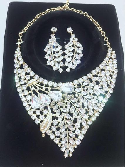 Colar Conjuntos Cristal Para Noiva E Festa 024