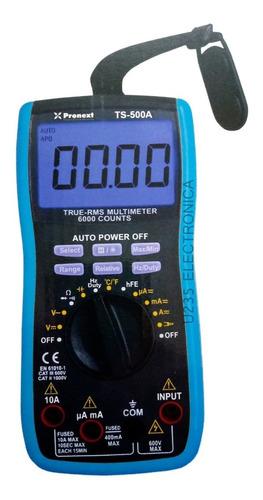 Imagen 1 de 3 de Tester Multimetro Digital Autorango Pronext Ts-500a True Rms