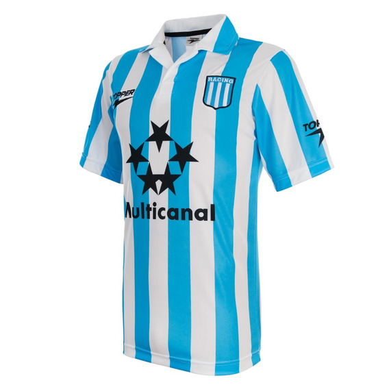 Camiseta Retro Racing Club Topper 1996 1997 Multicanal Nueva