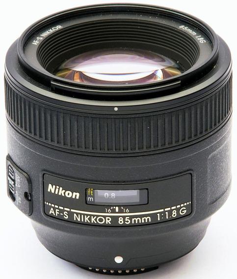 Lente Nikkor 85mm Afs F/1.8 G Garantia/pronta Entrega