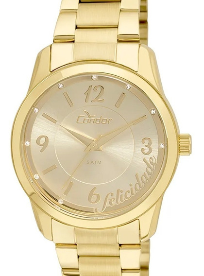 Relógio Condor Feminino Dourado Top Fashion Co2035kuo/4d