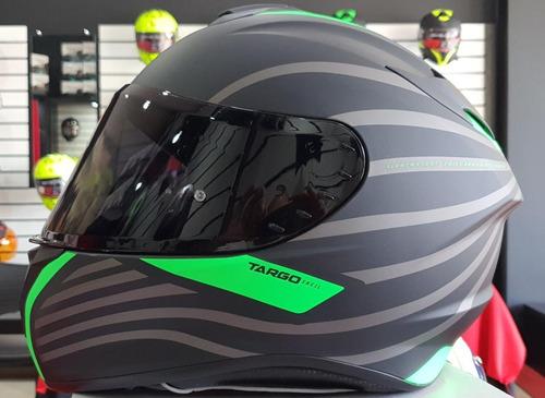Casco Mt Helmets Ttargo Doppler A2 Verde Fluor Mate