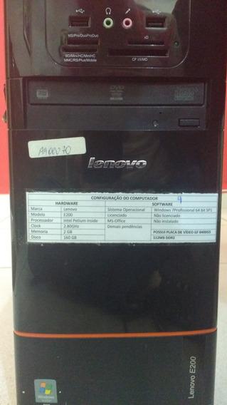 Cpu Lenovo 1gb 2.60ghz 160gb Pentium Inside