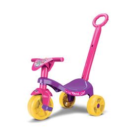 Triciclo Empurrador Motoca Infantil Carrinho Passeio Menina