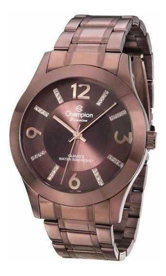 Relógio Feminino Champion Chocolate Cn28713r
