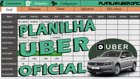 Planilha Para Motoristas De Aplicativos(uber, 99pop, Cabify)