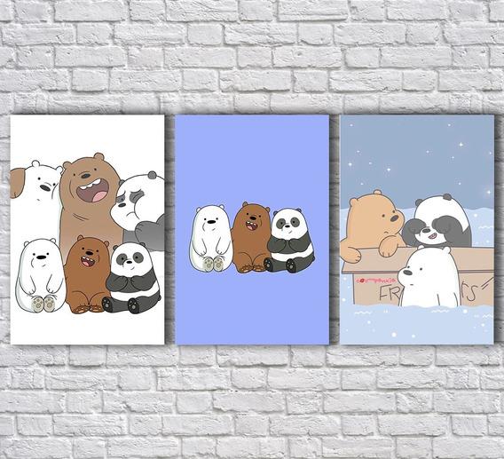 Placas Decorativas Ursos Sem Curso Decoração Para Casa Mdf