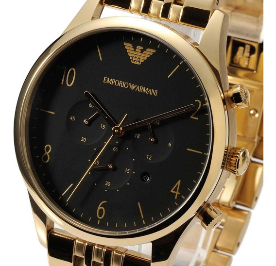 Relógio Masculino Armani Ar1893 Classic Gold Stainless