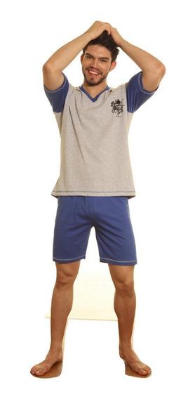 Pijama Hombre Jersey Con Estampa 100% Algodon