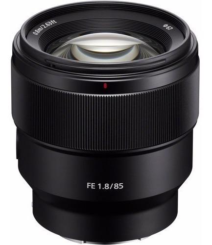 Lente Sony Fe 85mm F/1.8 E Mount Full Frame Sel85f18