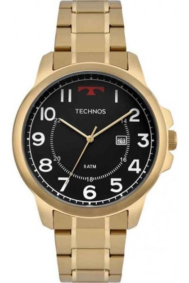 Relógio Technos Masculino Dourado Linha Steel Ref. 2115mpa/4