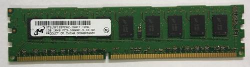 Imagem 1 de 3 de Memória Micron 1gb 1rx8 Ddr3 1333 Pc3 10600e - Ecc