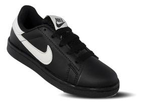 Tenis Nike 140 Infantil Negro Blanco Niño 18 Al 21